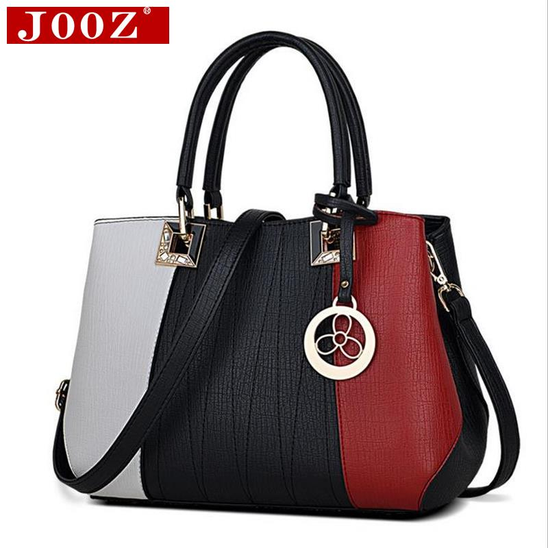 JOOZ New Arrival Women Messenger Bag patchwork Top Handbag Ladies inclined shoulder woman bags handbags women famous brands 2017 boston women messenger bags inclined shoulder ladies hand bag women leather handbag woman bags handbags women famous brands