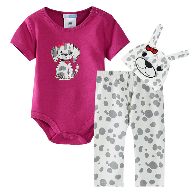 fb51bacad fashion baby girl and boy rompers clothes ss animal newborn costume infant  pants+top+