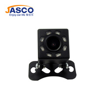 Unversal IP68 Waterproof HD Rear View Camera 8 LED Car Back Reverse Front Camera Wide Angle Night Vision Parking Assistance