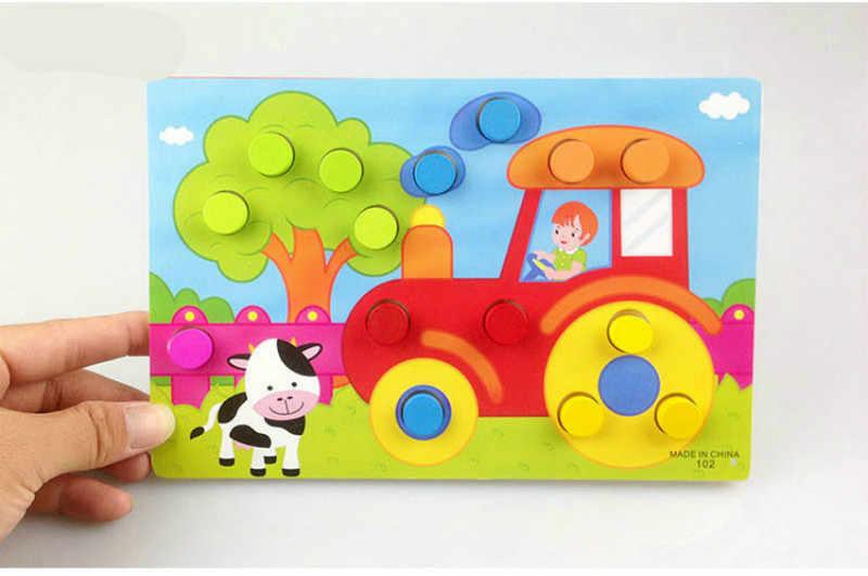 Доска для обучения, Обучающие игрушки Монтессори для детей, деревянная игрушка, головоломка для детей, игра для раннего обучения