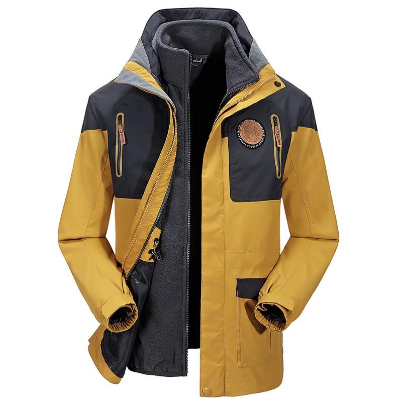 ФОТО Autumn Winter Mens Outdoor Hiking Windbreaker Hunting Camping Ski Sports Jacket Wear-resisting Breathable Waterproof Clothing