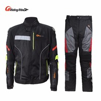 Riding Tribe Men S Motorcycle Set Jacket Pants Breatheable Waterproof For Summer Protective Moto Clothes Body
