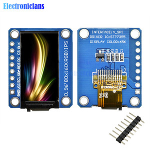 IPS 0.96 inch 80X160 IPS SPI HD 65K LCD Full Color Display LCD Module ST7735 Drive IC 80*160 3.3V SPI Interface (Not OLED)