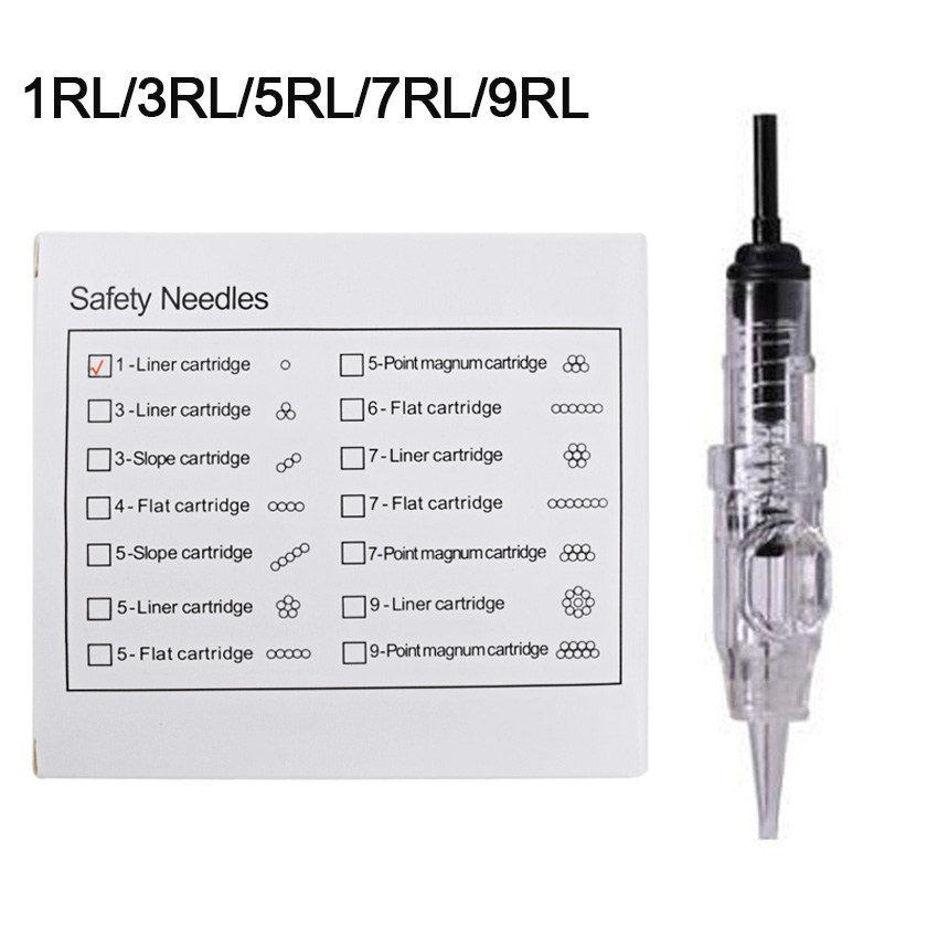 Tattoo Cartridge Needles RL 10Pcs Tattoo Needles Disposable Permanent Makeup Eyebrow Lip Eyeliner For Electric Machine Pen