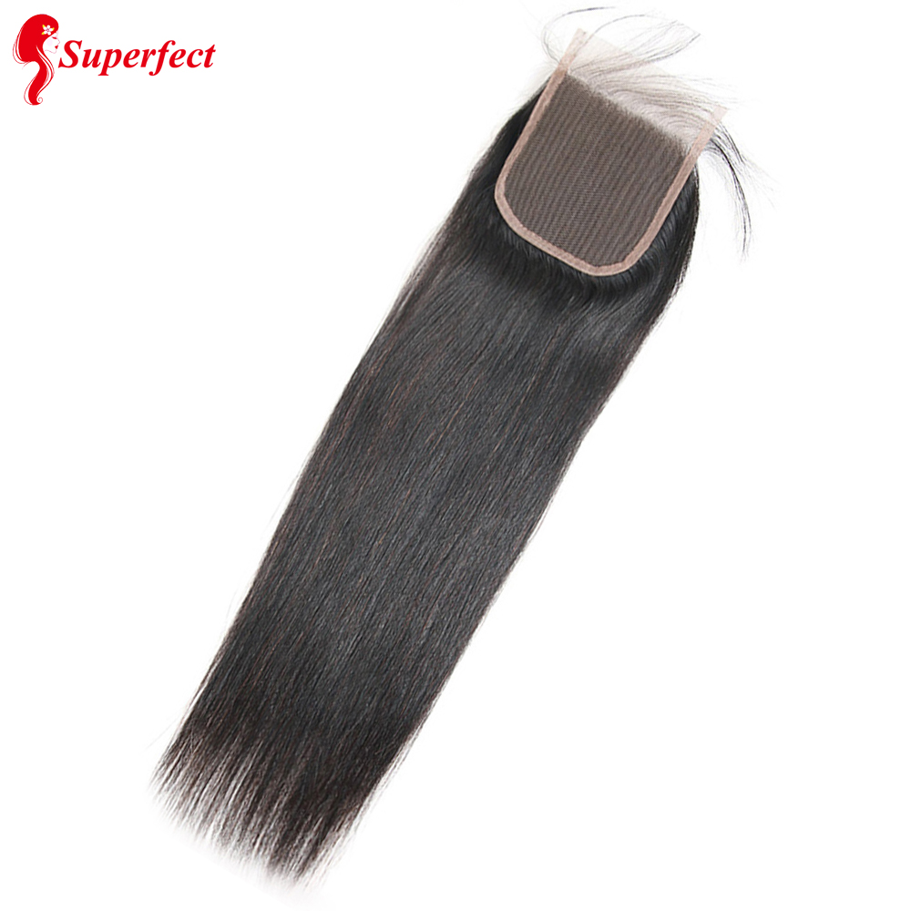 Superfect 4x4 Closure Brazilian Human Hair 8