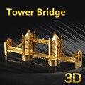 Тауэрский Мост в Лондоне 3D Металлические Головоломки Лазерная Резка DIY Сборки Модели Здания Игрушки Развивающие Детские Игрушки Для Детей