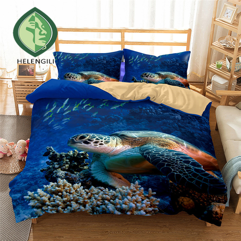 Sea Turtle 3d Bedding Set Print Duvet Cover Set Twin Queen
