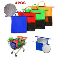 4 Pcs Set Foldable Shopping Cart Bags Reusable Trolley Tote Insulated Cooler Grocery Storage Bags HG99