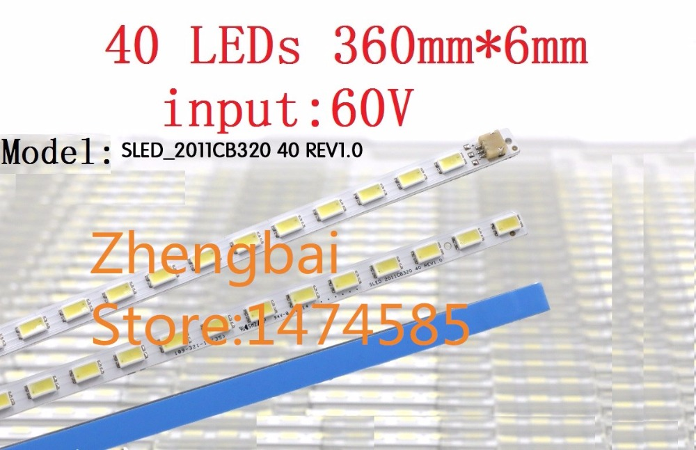 New 10 PCS T315HW07 32 LED backlight bar SLED 2011cb320 REV 1 0 40 LEDs 360mm