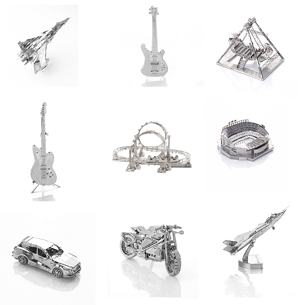 Car 3D Metal Model Puzzle Adult Model Jigsaw Puzzle Collection Educational font b Toys b font