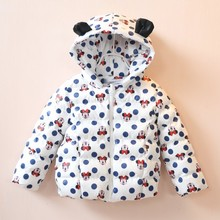 In The Winter Of 2016 New Sales Girl Thick Warm Winter Fashion Children's Cartoon Winter Jacket Coat Coat Jacket Free Shipping
