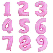 "0 to 9 ""New"" 40 Inch Pink Or Blue  Balloons New Year 2015 Digital Aluminum Film Wedding Party Decoration Dressed Foil Balloons"