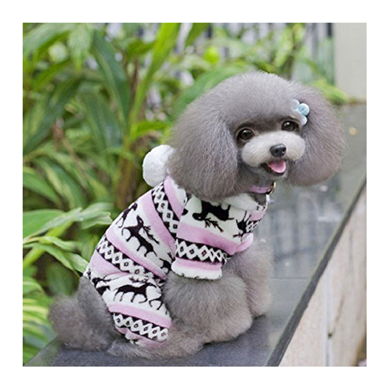 Winter Snowflakes Hooded Sweater Coral Home Decoration Clothing Animals
