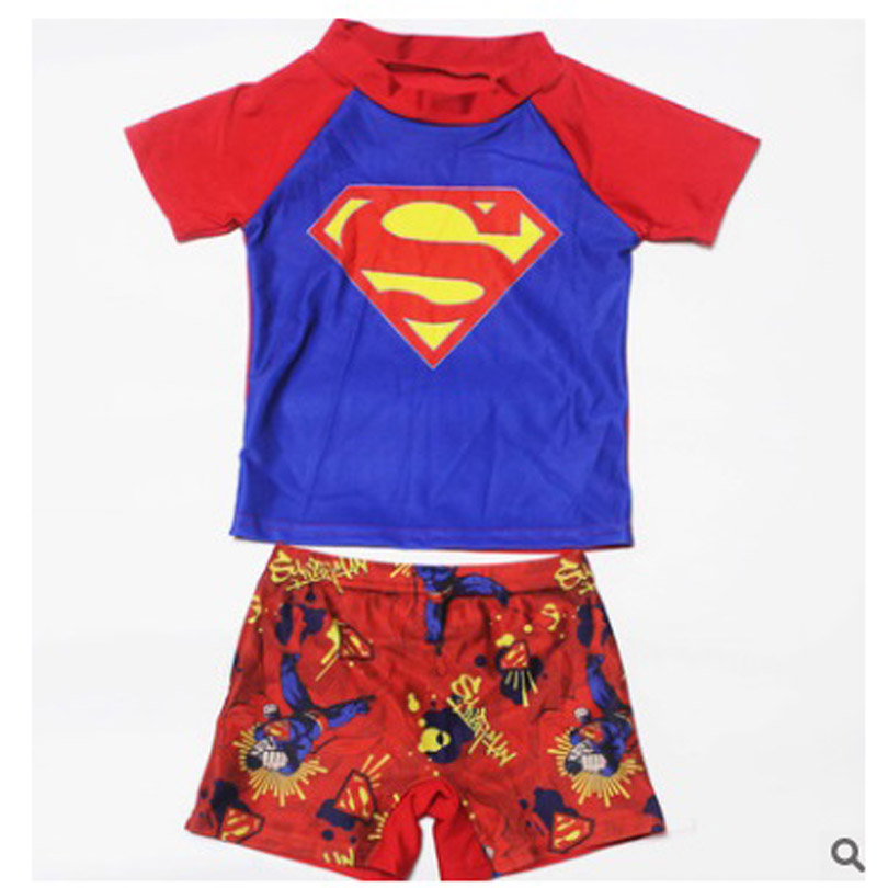 tronco) maiôs praia sunblock maiô superman spiderman