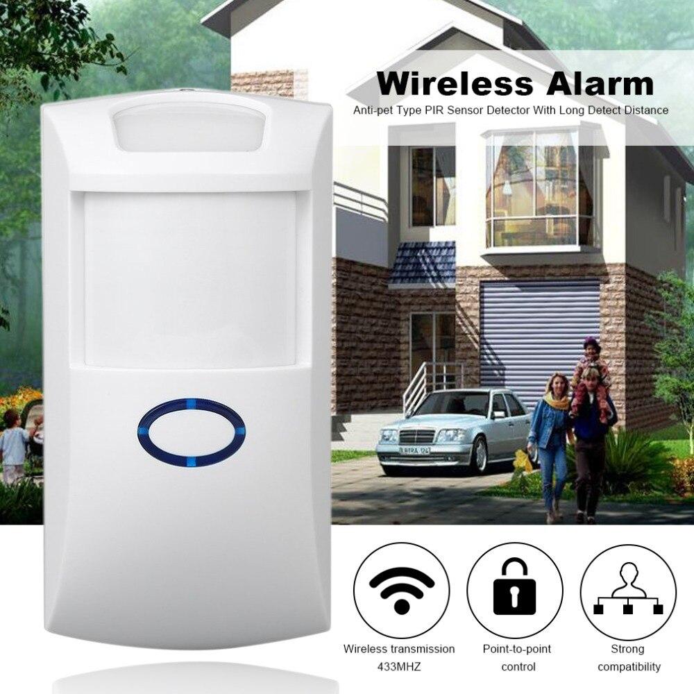 433Mhz Wireless Detector Alarm Home Security PIR MP Alert Infrared Sensor Anti-theft Mot ...