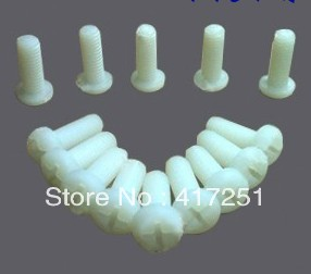 Lot50 Metric Thread <font><b>M3x6mm</b></font> Full Nylon Philips Pozi Raised Pan Round Head Screw image