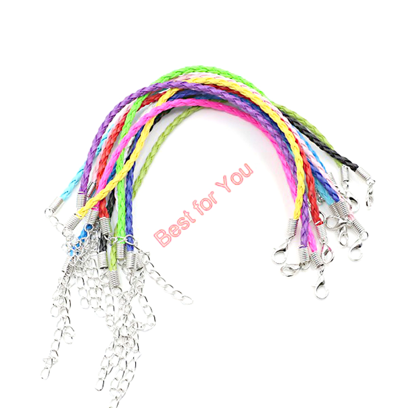 Image 4 - 50pcs Hope Breast Cancer Awareness Ribbon Charm Pendant Leather Rope Cham Bracelet Fit for European Bracelet Handmade Craft DIY-in Charm Bracelets from Jewelry & Accessories