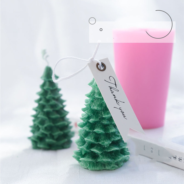Christmas Tree Silicone Candle Mold DIY Gypsum Plaster Mold Cedar Shape  Silicon Molds For Candle - Christmas Tree Silicone Candle Mold DIY Gypsum Plaster Mold Cedar