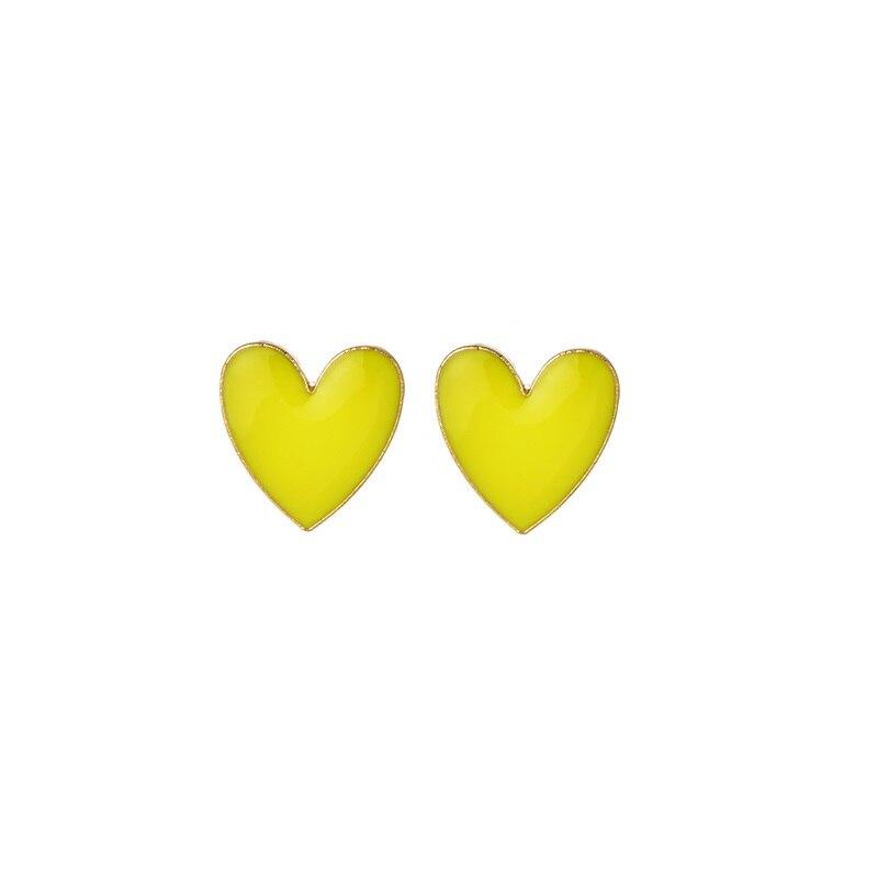 Модное ожерелье с подвеской для глаз для женщин, ожерелье с кристаллами, сексуальные персонализированные чокеры, короткая цепочка на ключицы, ювелирные изделия - Окраска металла: heart stud yellow