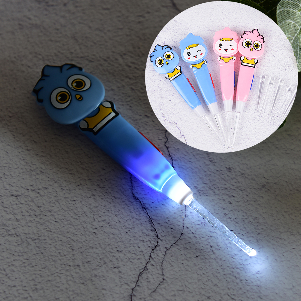 LED Light Ear-pick Baby Kids Dig Flash Light Ear Wax Remover Pick Earpick Clean Ear