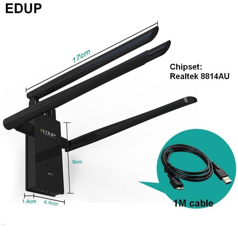 Haute puissance EDUP 1900 Mbps sans fil 802.11AC usb 3.0 wifi adaptateur 2.4G & 5.8G dual band carte réseau avec 4 antennes forte signal