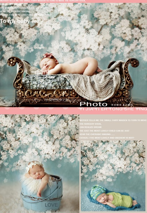 Custom vinyl cloth newborn white floral flower photo studio backgrounds for baby kids fotografia portrait photography backdrops vinyl floral flower newborn backdrops cartoon unicorn photography background studio photo props 5x3ft