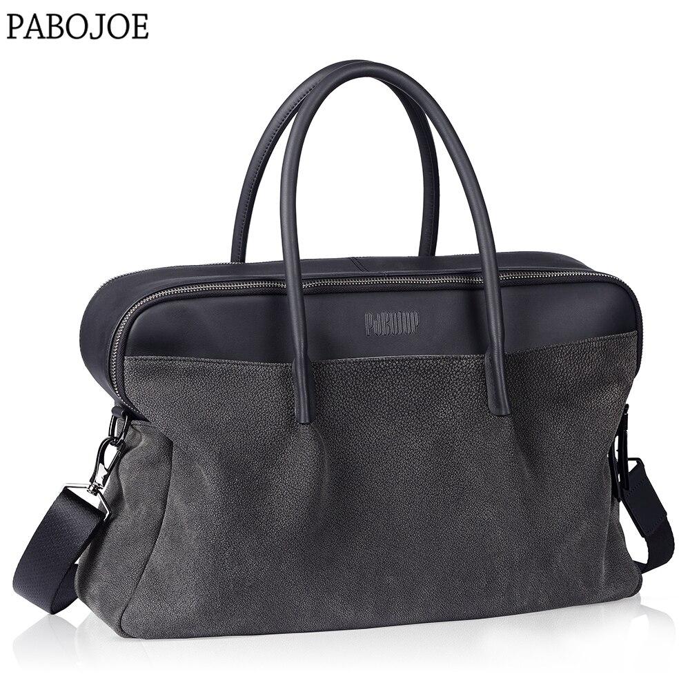 Pabojoe Men's Genuine Cow Leather Messanger Bags Fashion Crossbody Handbag for Travel Tot Bag mikszath kalman tot atyafiak