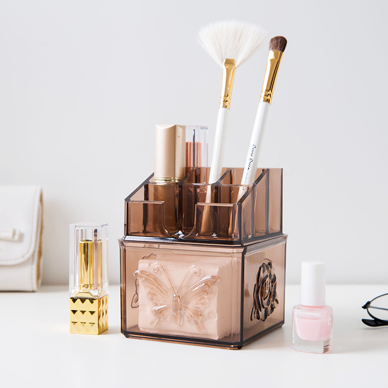Home & Garden New Fashion Meyjig Makeup Cosmetic Storage Box Brush Lipstick Holder Desk Bathroom Organizer Large Capacity Makeup Display Case