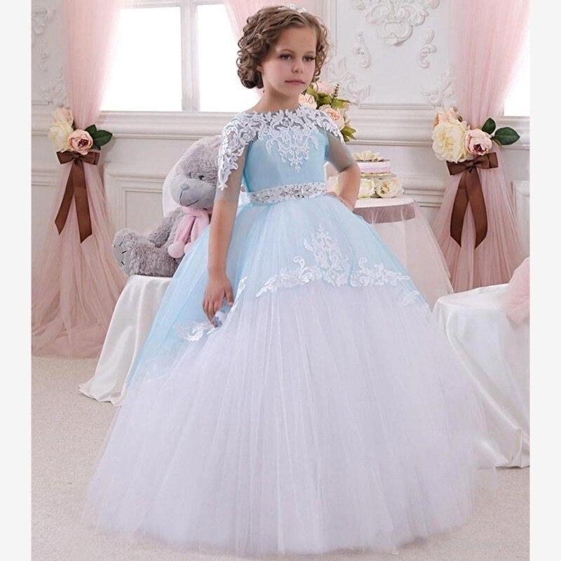 Aliexpress.com : Buy Light Blue Peplum Flower Girl Dresses 2016 ...