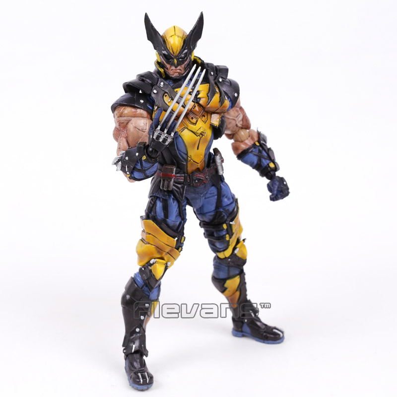 Play Arts Kai X men Logan PVC Action Figure Collectible Model Toy 26cm play arts kai kingdom hearts roxas pvc action figure collectible model toy