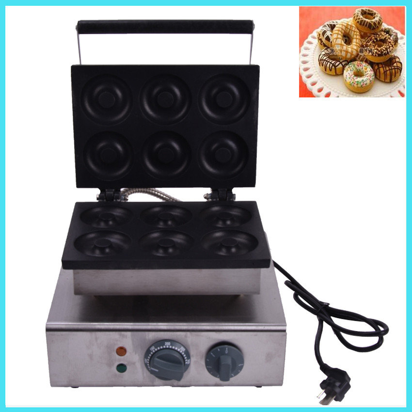 1PC donut maker/ Doughnut maker Small donut making machine stainless steel donuts producer with 6pcs moulds110V / 220V1PC donut maker/ Doughnut maker Small donut making machine stainless steel donuts producer with 6pcs moulds110V / 220V