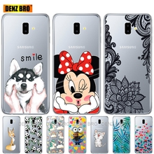 silicone phone case For Samsung J6 Plus Cases Soft TPU Cover For Samsung Galaxy J6Plus 2018 J6+ J 6 Plus J610 J610F Case Capas