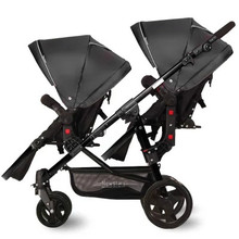 Twin baby stroller cart before and after lying can sit high landscape black car frame baby