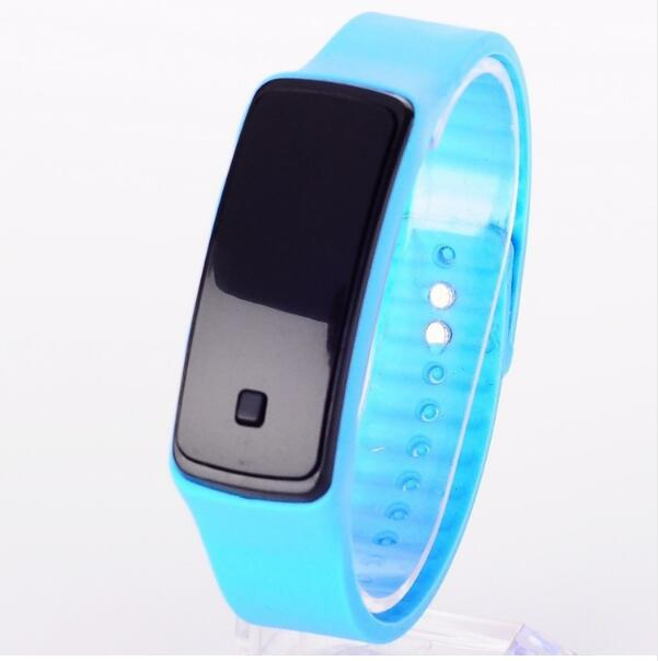 2016 Hot New Fashion design Touch Screen LED Digital Sports women watches men Imitation Intelligent electronic Silicone watch