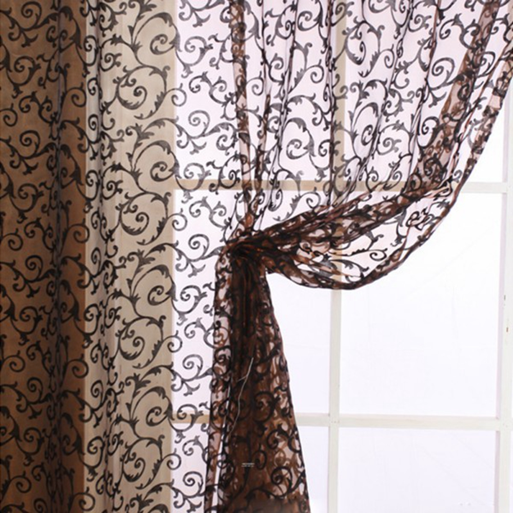 sheer polyester floral rod style curtain panel pd antique panels single in selections shop pocket curtains arcadia