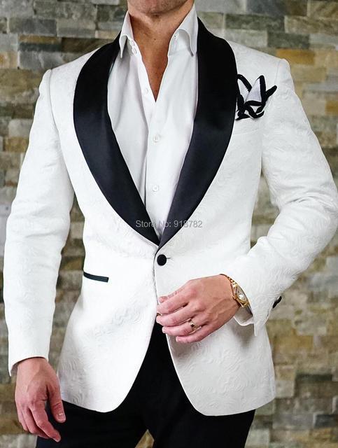 Traje Homme 2018 nueva moda hombres traje slim fit party prom wear vestido  dos piezas Set 661f333c16d