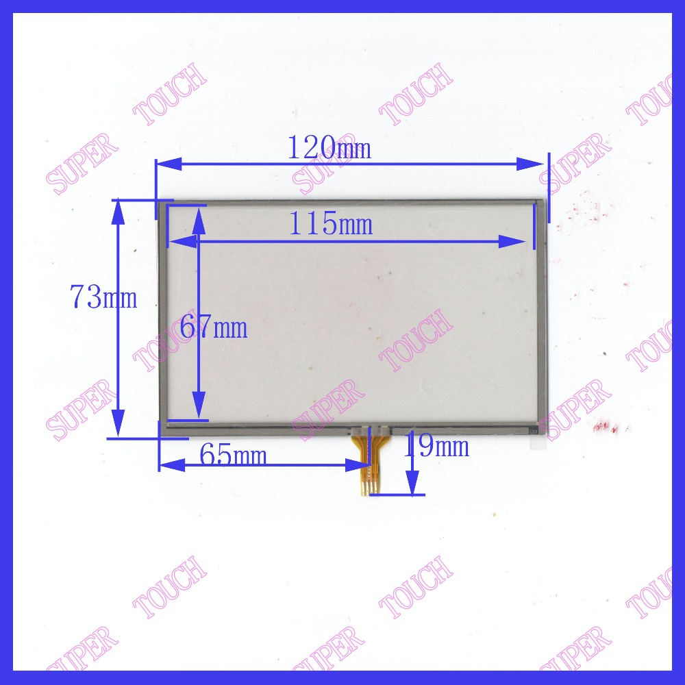5 inch 120*73 4 wire TOUCH SCREEN COMPATIBLE the glass touch for AT050TN43