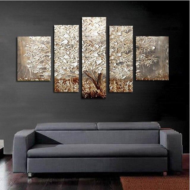 Tienda Online 5 unids/set 100% pintado a mano árbol de plata ...