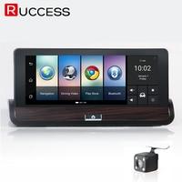 Ruccess 3G 7 Inch GPS Navigation Car Camera DVR Android Navigator Dual Lens DVRs FULL HD