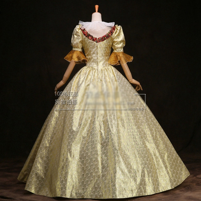 Online Shop 100% real venice carnival long medieval dress ...