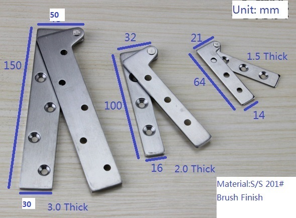 30pcslot 100mm4 Stainless Steel Inset Door Pivot Hinge Knife