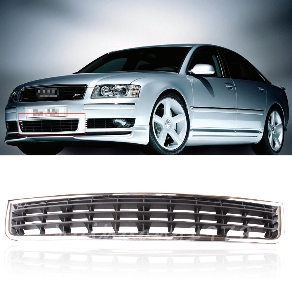 Front Bumper Center Lower Grille Grills For Audi A4 B6 Sedan 2002-2005 Chrome Grill New Car Styling Racing Grills