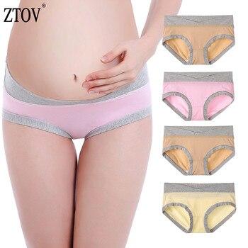 921ebe6554e4 ZTOV 4 unids/lote maternidad ropa interior de cintura baja embarazo  escritos para las mujeres
