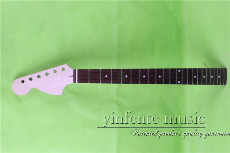 "one unfinished 25.5"" left Electric guitar neck   mahogany made Bolt on rose wood fingerboard fine quality  22  fret  0032#"