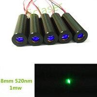 IEC FDA Class II 8mm Low operating temperature 1mW Green Dot Laser Diode Module Industrial Grade APC Driver