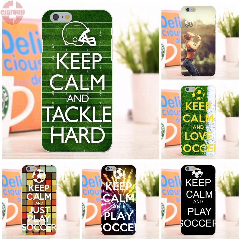 EJGROUP Keep Calm And Play Soccer Bags For Apple iPhone 6 6S 4.7 inch Soft TPU Silicon Capa