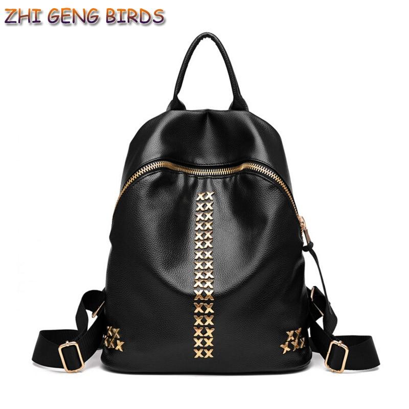 ZHI GENG BIRDS Women Backpack PU Leathe Lady Women s Backpacks Female Casual Travel Bags Mochila