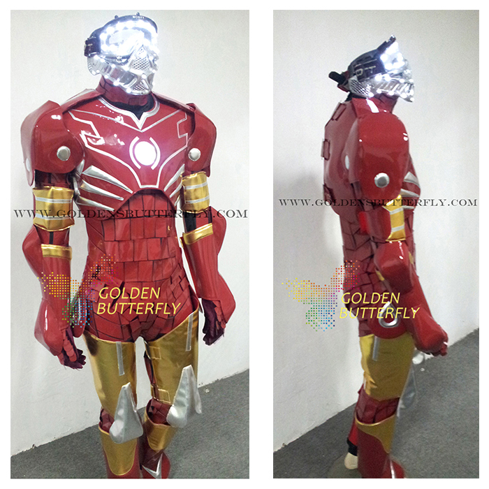 Robot Costumes LED Mask Dance Men Luminous Suit LED Show Halloween Mardi Gras Carnival Science Fiction Movie Robot Clothing-in Ballroom from Novelty ... & Robot Costumes LED Mask Dance Men Luminous Suit LED Show Halloween ...