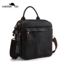 VANTER OX New Design Men Shoulder Bags Genuine Leather Small Handbag Flap For Men Casual Male Messenger Bag Crossbody Men Bag