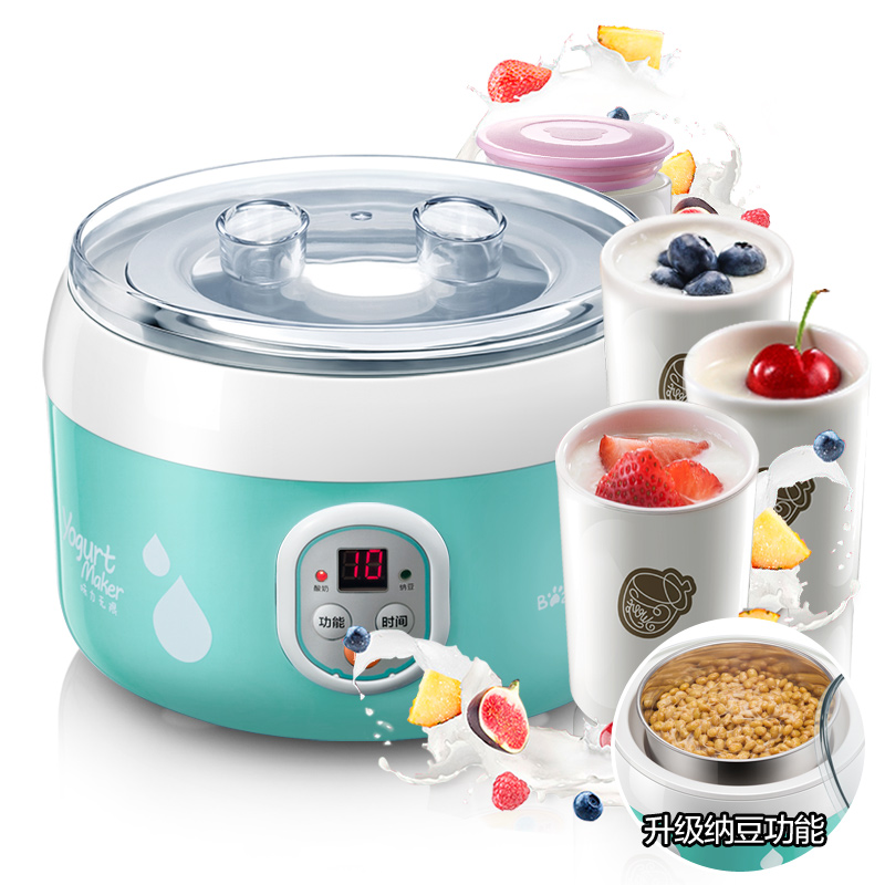 Bear SNJ-560 Yogurt Machine Home Fully Automatic Stainless Steel Liner Natto Machine Ceramics Sub-cup Yogurt Maker hot selling electric yogurt machine stainless steel liner mini automatic yogurt maker 1l capacity 220v